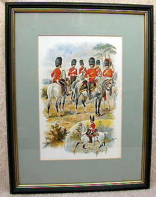 Harry Payne Royal Scots Greys Signed Mounted and Framed Print