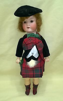 Antique Bisque Head Jointed Armand Marseille 390 Scottish Doll $39.99