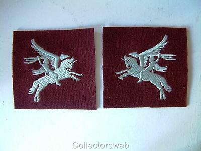 WW2 BRITISH 1st 6th AIRBOURNE FORCES PEGASUS CLOTH PATCH SHOULDER FLASH BADGE
