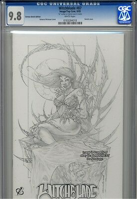 CGC 9.8 Witchblade #87, Rare Romano Sketch Variant Ltd to 99 Highest!!! 1 of 1