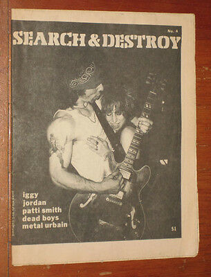 SEARCH & DESTROY no. 4 1977 IGGY POP patti smith DEAD BOYS metal urbain SHAM 69