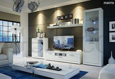 Living room furniture Galaxy / Free LED !!! / TV Stand / Wall Unit / High Gloss