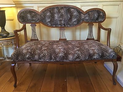 Edwardian Ladies And Gentlemens Sofa And Armchair