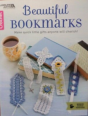 BEAUTIFUL BOOKMARKS - Crochet Pattern Softcover Book from Leisure Arts - NEW