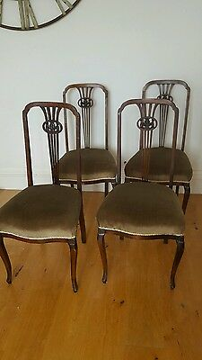 Four Edwardian dining chairs