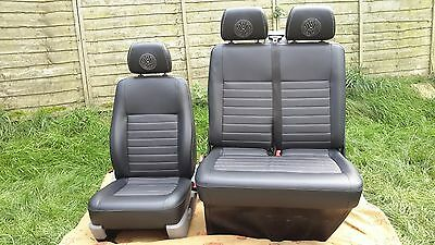 VW T5 TRANSPORTER RETRIMED FRONT CAB SEATS 2 + 1  (seats included)