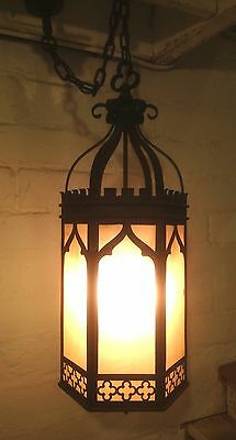 Antique Iron Gothic Pendant Church Lantern Light