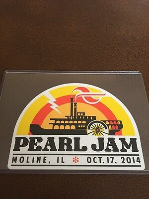 Pearl Jam Official Moline Sticker 2014 Not Poster