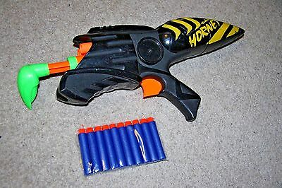Nerf Vintage Mad Hornet Max Force 6 Dart Gun Air-Powered Pump Kenner Rare 1997