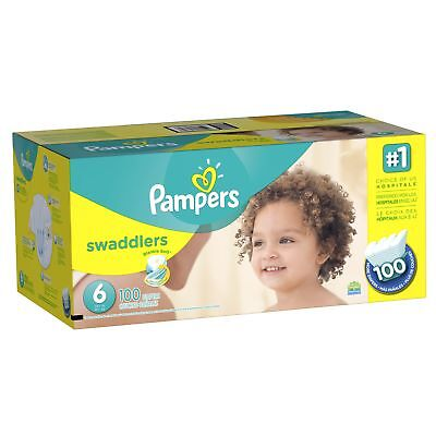 Pampers Swaddlers Diaper Size 6 Economy Pack Plus 100 Count (Packaging May Va...