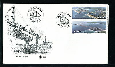 1978 South Africa RSA FDC. Harbours. First Day Cover