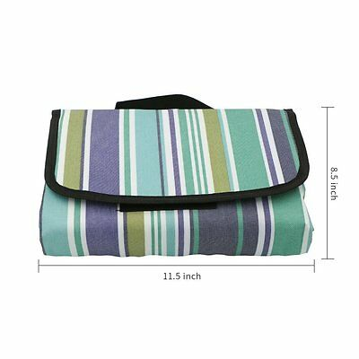 Foldable Very Large Picnic Beach Mat - Waterproof Sandproof - 79 X 79 inch