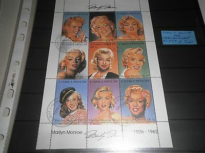 """S Tome' Principe 1994 """"marilyn Monroe"""" Used Block (Cat.a)"""