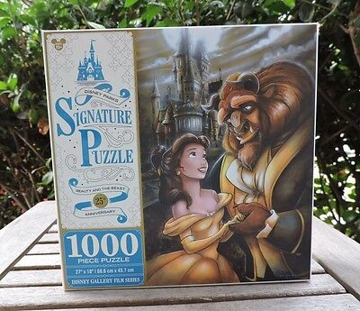 Disney Parks 1000-pc 25th Anniversary BEAUTY and the BEAST Signature Puzzle NEW
