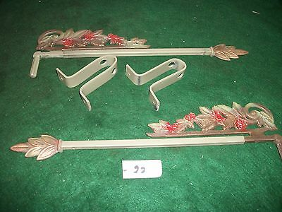 Antique-Old-Vintage-Cast Iron Swing A Way- Extending Drapery/curtain Rods