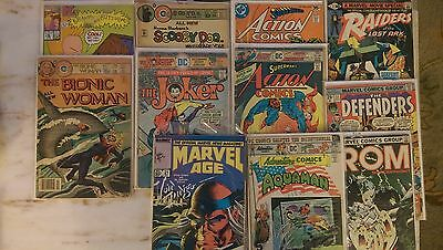 Mixed Lot of 20 Comics Marvel Age/Action/DC/Charlton/MTV