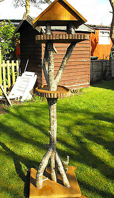 Bird table/Bird stand handmade garden ornament (unique style number 3)