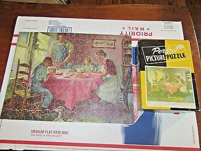 Vintage Perfect Picture Puzzle - Saying Grace - 100% Complete - L@@K