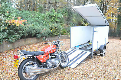 Closed Double Motorbike Motorcycle Trailer High Quality Brenderup
