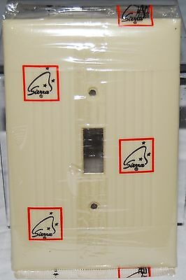 Vintage Sierra Oversized Ivory Switch Plate, Ribbed, Unused In Package