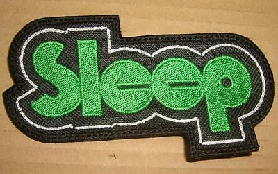 SLEEP - GREEN LOGO Embroidered PATCH Dopesmoker  High on Fire The Sword Baroness