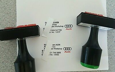 Audi/BMW garage Car service stamp history book with ink