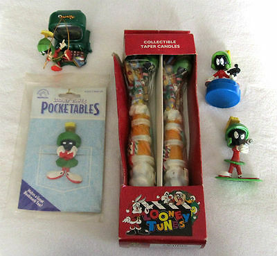 LOT of Looney Tunes MARVIN the MARTIAN Warner Bros PVC Figures BOOKMARK Candles