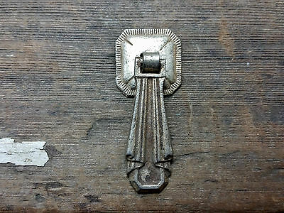 VTG Antique Old Brass Pewter Tassel Pendant Pull Handle Clock Cabinet Jewelry