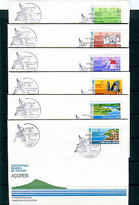 1980 Azores. Tourism. FDC Portugal. Windmill, Map