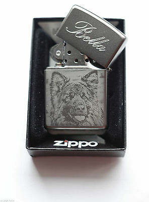 Personalised  Zippo lighter Photo  Engraved  with Zippo Orginal Box