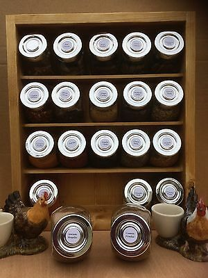 Deluxe Spice rack with assorted spices in jars15/20 Indian curry pack, gift box