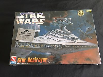 STAR WARS Star Destroyer AMT 8915 COMMEMORATIVE Edition Model Kit SEALED 1997!
