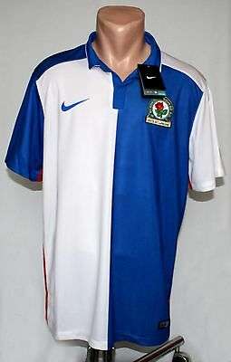New Authentic Nike Blackburn Rovers Home Shirt 2015 2016 Jersey, Soccer size L