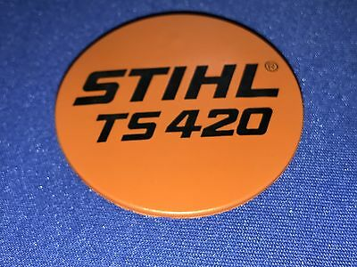 OEM Stihl TS420 Model Plate 4238 967 1501 concrete saw recoil badge