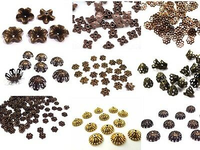 Bead Caps - Bronze Brass Copper - Assorted Styles - VIEW LISTING TO SEE RANGE!