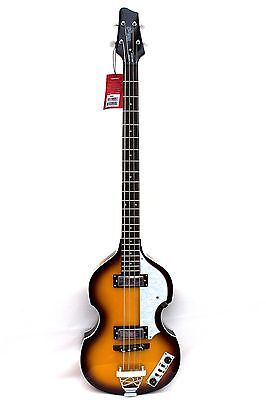 Stagg Vintage  Beatles Style 4 String Semi-Acoustic Violin Electric Bass Guitar