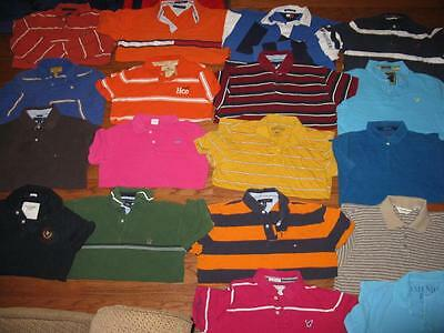 Lot 18 Adult Mens Polo Shirts American Eagle Tommy Hilfiger Hollister All Large