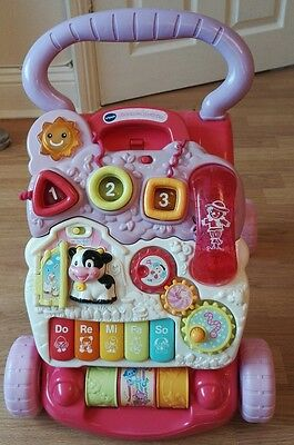 Vtech first steps baby walker activity pink child learning musical toy girl