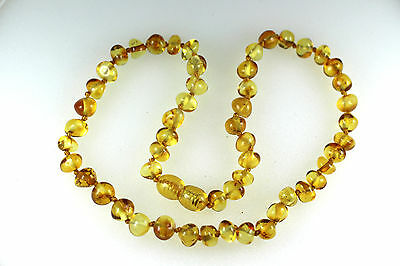 Natural Genuine Baltic amber baby teething necklace  Children gift  V1