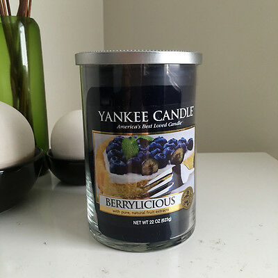 Yankee Candle ~ BERRYLICIOUS ~ *Free Shipping* 2-wick Tumbler
