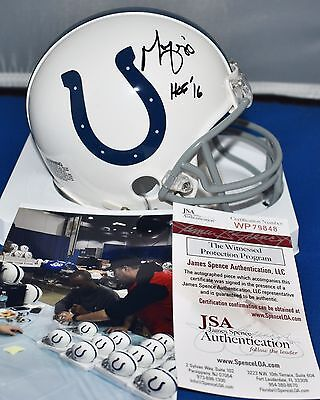 Marvin Harrison Autographed Mini Helmet Indianapolis Colts  Hof 2016 Jsa