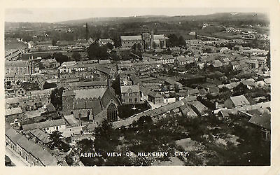 AERIAL AIR VIEW OF KILKENNY CITY IRELAND RP SIGNAL IRISH POSTCARD POSTED in 1954