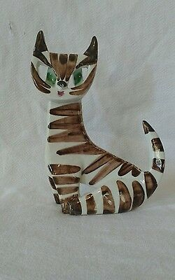 Rare Early Vintage Dorothy Clough Cat Sculpture Figurine for Gelfe 1950s