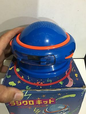VINTAGE NOVELTY FLYING SAUCER CLOCK ALARM RADIO AM(MW)-FM BAND  1970s-1990s