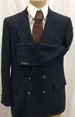 Christian Dior Monsieur 1970's Blue Vintage Double Breasted Blazer Sports Jacket