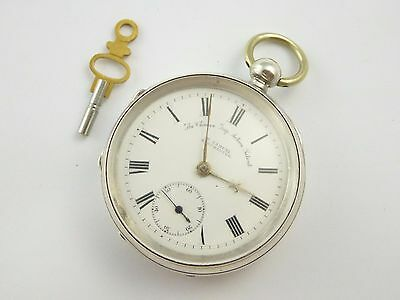 Large Thick Antique 1902 Hallmarked Sterling Silver H Samual Pocket Watch LAYBY