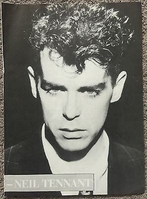 NEIL TENNANT - 1987 full page magazine poster PET SHOP BOYS
