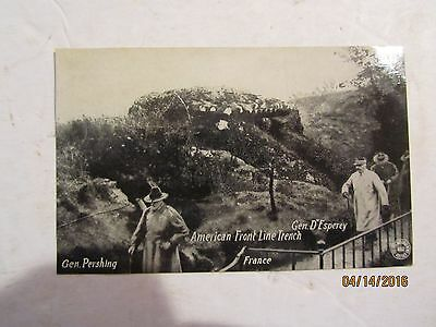 1917 WWI American Front Line Trench Gen Pershing France G Kavanaugh Postcard