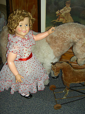 """Original 1959 vintage 36"""" sgnd Ideal SHIRLEY TEMPLE gorgeous doll PlayPal family"""