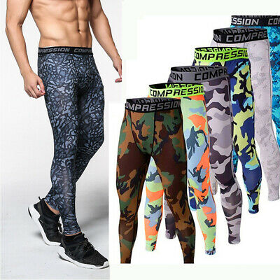 Men Compression Base Layer Workout Running Gym Fitness Yoga Sports Tight Pants